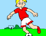 Coloring page Playing football painted byMARTA