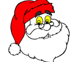 Coloring page santa face painted bypallpma