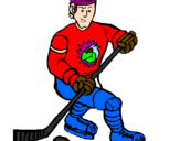 Coloring page Ice hockey player painted bykelan
