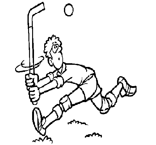 Coloring page Field hockey player painted byG