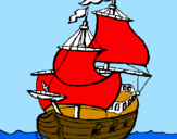 Coloring page Ship painted bykelan
