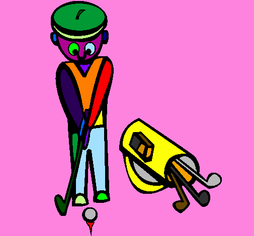 Coloring page Golf II painted bydav31