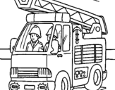 Coloring page Fire engine painted byalanna