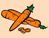 Coloring page Carrots II painted byapril
