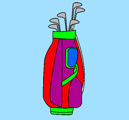 Coloring page Golf club painted byjack