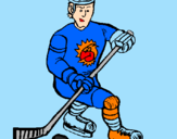 Coloring page Ice hockey player painted byales