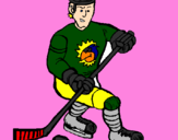 Coloring page Ice hockey player painted bycolby