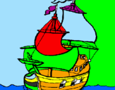 Coloring page Ship painted bymaria marcos     5a