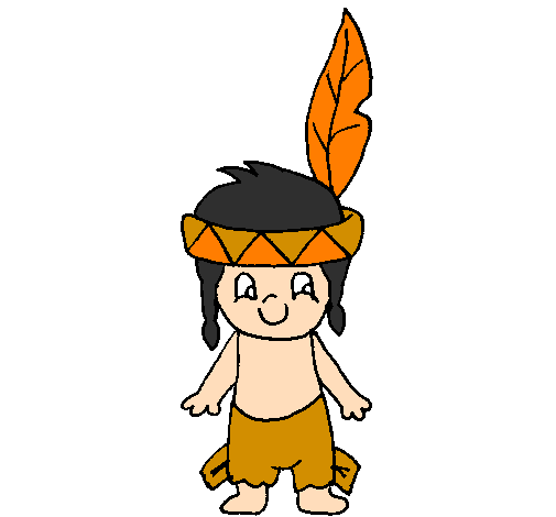 Coloring page Little Indian painted bylogan  clark