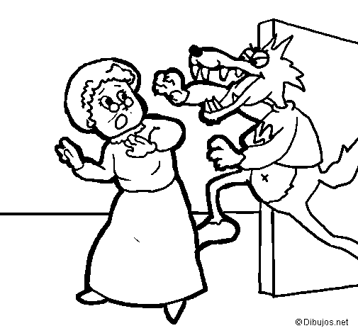 Coloring Page Little Red Riding Hood 9 Painted Bybob