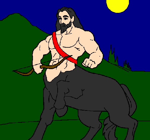 Coloring page Centaur with bow painted byaiden