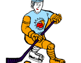 Coloring page Ice hockey player painted byGeorge