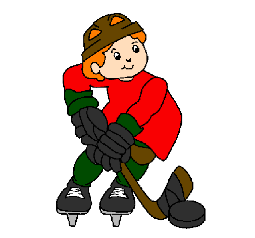 Coloring page Little boy playing hockey painted bykristina