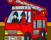 Coloring page Fire engine painted byStan Marshall
