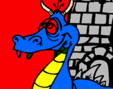 Coloring page Dizzy dragon painted byaaron