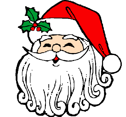 Coloring page Santa Claus face painted bylaura