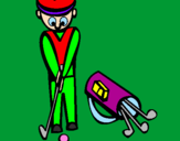 Coloring page Golf II painted byoma