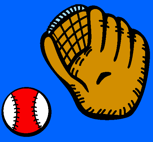 Baseball glove and baseball ball