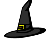 Coloring page Witch's hat painted bycuerno