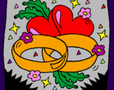 Coloring page Wedding rings painted byKay
