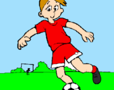 Coloring page Playing football painted byJOSHUA