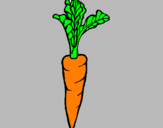 Coloring page carrot painted byemilio