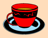 Coloring page Cup of coffee painted bytiffany
