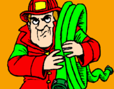 Coloring page Firefighter painted byolivia