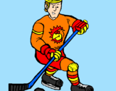 Coloring page Ice hockey player painted byChas