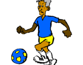 Coloring page Football player painted byabid