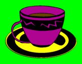 Coloring page Cup of coffee painted byviviana