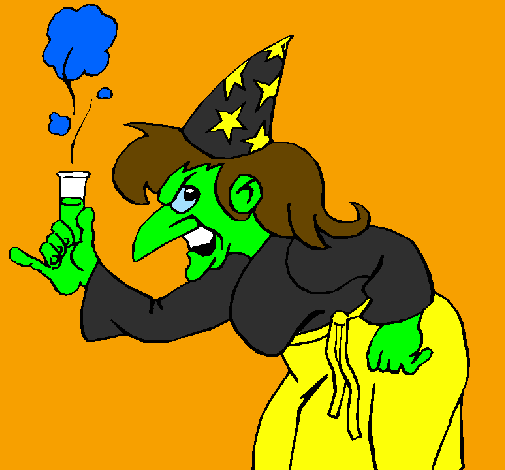 Coloring page Witch painted byjamie