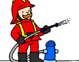 Coloring page Firefighter painted byjosedavid
