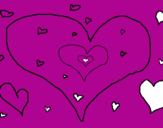 Coloring page Hearts painted byBADR
