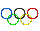 Coloring page Olympic rings painted byoscar