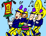 Coloring page Musical band painted bybanda de sofia