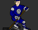 Coloring page Ice hockey player painted byBRITTANY
