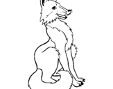 Coloring page Red fox painted byjean