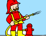 Coloring page Firefighter painted bymimi