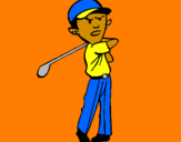 Coloring page Golf painted byZAC AND JONATHAN