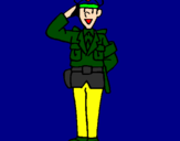Coloring page Police officer waving painted byjonat0101ns