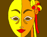 Coloring page Italian mask painted byMask-ColoringCommunity