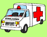 Coloring page Ambulance painted byCandie