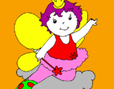 Coloring page Fairy painted bylana lika