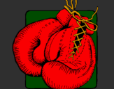 Coloring page Boxing gloves painted byWyatt