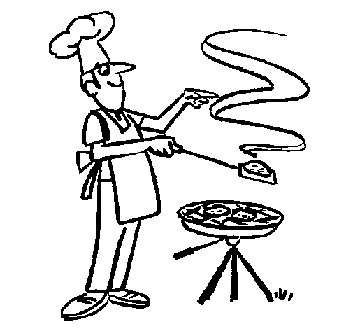 Coloring page Barbecue painted bym
