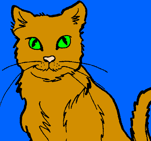 Coloring page Cat painted bythis is our cat charlie