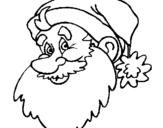 Coloring page Father Christmas face painted byyuan