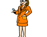 Coloring page Doctor with glasses painted byantonette