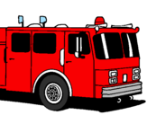 Coloring page Fire engine painted by v epgtg